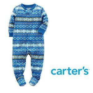 NWT Carter's Fair Isle Footie Pajamas size 18 mos